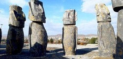 Replicas of Easter Island's moais on show in Iran
