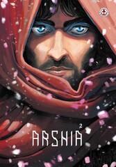 "Front cover of the English version of Ashkan Rahgozar's graphic novel ""Arshia 2""."