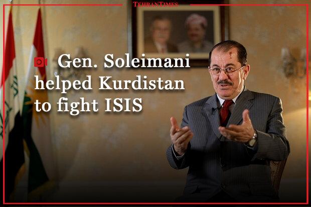Gen. Soleimani helped Kurdistan to fight ISIS