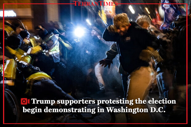 Trump supporters protesting the election being demonstrating in Washington D.C.