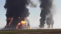 Huge blaze on Afghan border