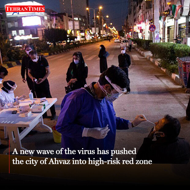 Rapid COVID-19 testing in Ahvaz as virus roars back