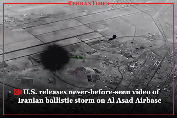 U.S. releases never-before-seen video of Iranian ballistic storm on Al Asad Airbase