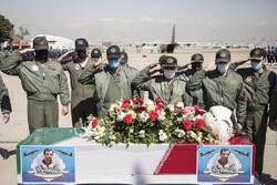 Funeral procession held for martyr pilot Birjand Bik-Mohammadi