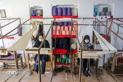 10,000 sq meters of traditional cloth handcrafted in Iranian village monthly