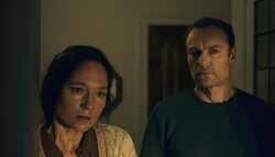 """Sabine Timoteo and Mark Waschke act in a scene from """"Human Factors"""" by Ronny Trocker."""