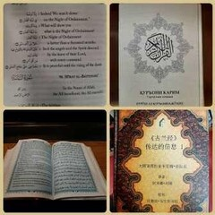 This combination of photos shows copies of various translations of the Holy Quran. (file photo)