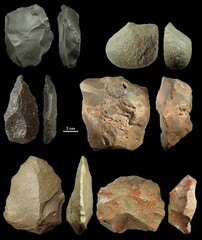Examples of stone artifacts collected during an archaeological survey in the southeastern parts of the Iranian plateau. (Photo: Mohsen Zeidi)