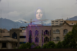 """A photo from Iranian photographer Armin Karami's series """"Foreign Mirror"""", which won first prize in the Portrait Story of the Istanbul Photo Awards."""