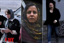 """A combination photo shows scenes from the Iranian films """"Gisum"""" (L), """"Shahrbanu"""" (C) and """"Major""""."""