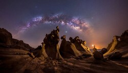 """""""Night Lovers"""" by Iranian photographer Mohammad Hayati is among the winners of the Milky Way Photographer of the Year competition."""
