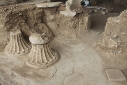 Ancient gypsum furniture discovered in fire temple central Iran