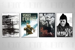 This combination photo shows posters for some Swiss classics that have been selected to be screened in the Fajr Classic Preserved.
