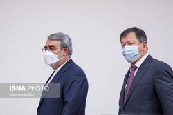 Iranian and Tajik interior ministers