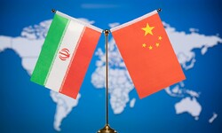 Graphic design features the flags of Iran and China.