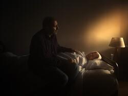 """Bardia Yadegari and Farideh Azadi act in a scene from """"District Terminal"""" co-directed by Bardia Yadegari and Ehsan Mirhosseini."""