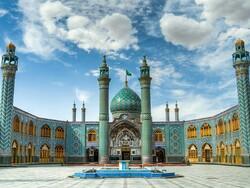 A view of Mohammed Helal shrine near Kashan