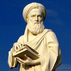 mage of a statue of Iranian historian Abulfazl Bayhaqi in Sabzevar.