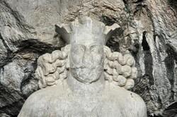 An ancient statue of Shapur I, Bishapur, southern Iran.
