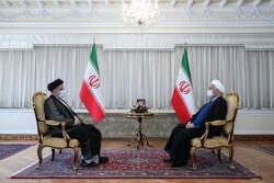 Raisi meets Rouhani