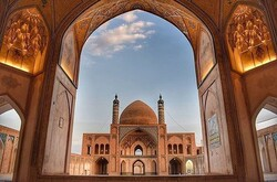 A view of Agha Bozorg Mosque in Kashan, central Iran