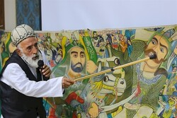 This file photo shows Morshed Mahmud Daddah performing a pardeh-khani show.