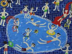 A painting by the 8-year-old Iranian boy, Rastin Jaafari, won an award at the 6th Arts Olympiad of the International Child Art Foundation in Washington, DC.