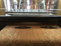 Household brocade-weaving machine made by Iranian artisans