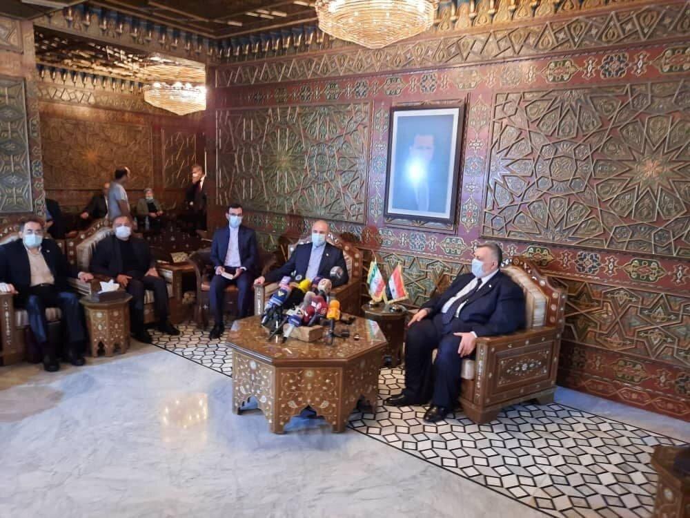 Iran Majlis speaker arrives in Syria for economic talks