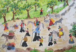 A painting by the 11-year-old boy Ali Tamoradi from the IIDCYA branch in Baghmalek, Khuzestan Province, won a gold medal at the 4th Piatra Neamt Creative International Art Competition for Children in