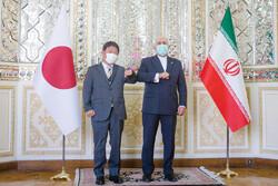 Japanese Foreign Minister Toshimitsu Motegi - Iranian Foreign Minister Mohammad Javad Zarif