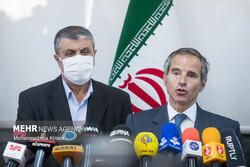 Grossi, Eslami speak to reporters