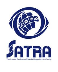 A logo for the Iranian Audiovisual Media Regulatory Authority (SATRA).