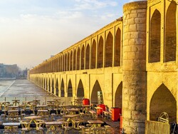 A view of Si-o-Se-Pol, a centuris-old arch bridges in Isfahan, central Iran.