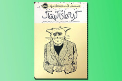 """Front cover of the Persian translation of James Joyce's book """"The Cats of Copenhagen""""."""