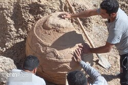 earthenware urn