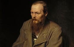 A portrait of Russian writer Fyodor Dostoevsky by Vasily Perov.