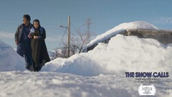 """A poster for the Iranian documentary """"The Snow Calls""""."""