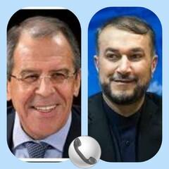 Iran, Russia FMs hold phone conversation