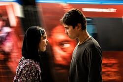 """Shamila Shirzad and Ruhollah Zamani act in a scene from the Iranian drama """"Sun Children""""."""